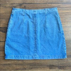 Topshop Moto Blue Denim Mini Skirt
